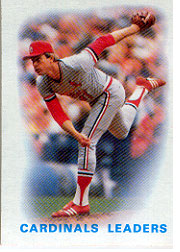 1986 Topps Baseball Cards      066      Cardinals Leaders#{Bob Forsch