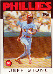1986 Topps Baseball Cards      686     Jeff Stone