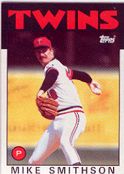 1986 Topps Baseball Cards      695     Mike Smithson