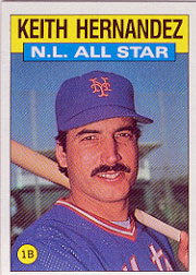 1986 Topps Baseball Cards      701     Keith Hernandez AS