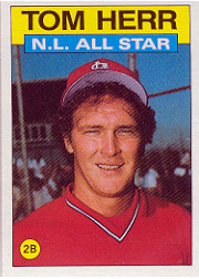 1986 Topps Baseball Cards      702     Tom Herr AS