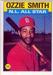 1986 Topps Baseball Cards      704     Ozzie Smith AS