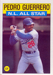 1986 Topps Baseball Cards      706     Pedro Guerrero AS