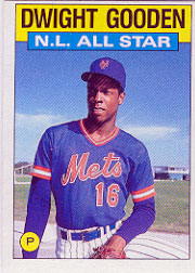 1986 Topps Baseball Cards      709     Dwight Gooden AS