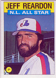 1986 Topps Baseball Cards      711     Jeff Reardon AS