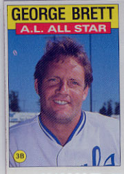 1986 Topps Baseball Cards      714     George Brett AS