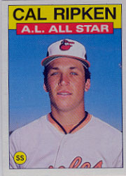 1986 Topps Baseball Cards      715     Cal Ripken AS