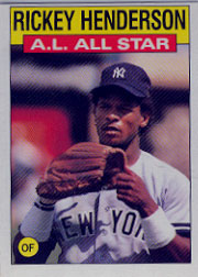 1986 Topps Baseball Cards      716     Rickey Henderson AS