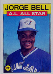 1986 Topps Baseball Cards      718     George Bell AS