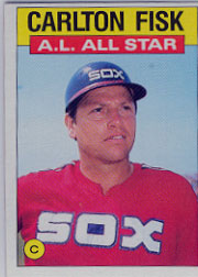 1986 Topps Baseball Cards      719     Carlton Fisk AS