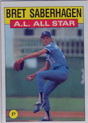 1986 Topps Baseball Cards      720     Bret Saberhagen AS