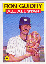 1986 Topps Baseball Cards      721     Ron Guidry AS