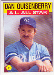 1986 Topps Baseball Cards      722     Dan Quisenberry AS