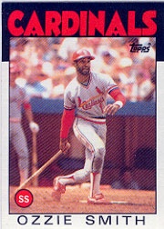1986 Topps Baseball Cards      730     Ozzie Smith