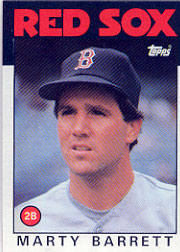 1986 Topps Baseball Cards      734     Marty Barrett