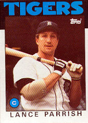 1986 Topps Baseball Cards      740     Lance Parrish