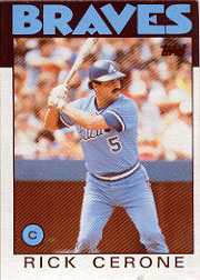 1986 Topps Baseball Cards      747     Rick Cerone