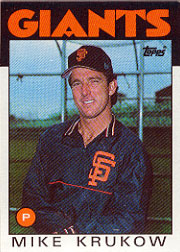 1986 Topps Baseball Cards      752     Mike Krukow