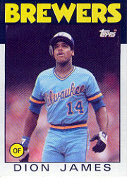 1986 Topps Baseball Cards      076      Dion James