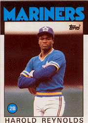 1986 Topps Baseball Cards      769     Harold Reynolds RC