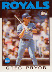 1986 Topps Baseball Cards      773     Greg Pryor