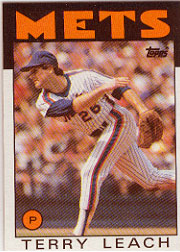 1986 Topps Baseball Cards      774     Terry Leach