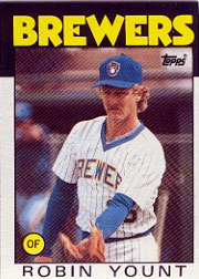 1986 Topps Baseball Cards      780     Robin Yount