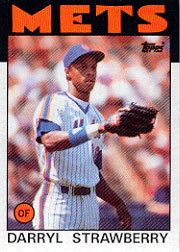 1986 Topps Baseball Cards      080      Darryl Strawberry