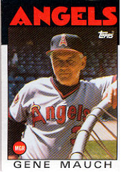 1986 Topps Baseball Cards      081      Gene Mauch MG