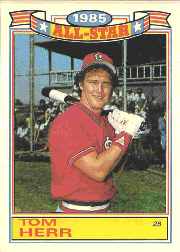 1986 Topps Glossy All-Stars Gray Stock Baseball Cards     014      Tom Herr
