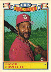 1986 Topps Glossy All-Stars White Stock Baseball Cards     016      Ozzie Smith