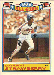 1986 Topps Glossy All-Stars Gray Stock Baseball Cards     019      Darryl Strawberry