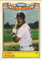 1986 Topps Glossy All-Stars Gray Stock Baseball Cards     006      Jim Rice