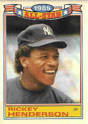 1986 Topps Glossy All-Stars Gray Stock Baseball Cards     007      Rickey Henderson