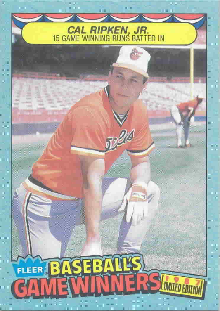 1987 Fleer Game Winners Baseball Cards