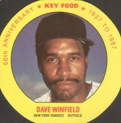 1987 Key Food Baseball Discs Baseball Cards