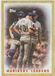 1987 Topps Baseball Cards      156     Mariners Team#{(Mound conference)