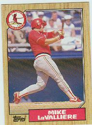 1987 Topps Baseball Cards      162     Mike LaValliere RC *