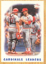 1987 Topps Baseball Cards      181     Cardinals Team#{(Mound conference)
