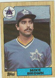 1987 Topps Baseball Cards      271     Mike G. Brown