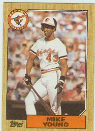 1987 Topps Baseball Cards      309     Mike Young