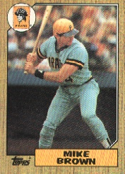 1987 Topps Baseball Cards      341     Mike C. Brown