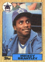 1987 Topps Baseball Cards      347     Mickey Brantley