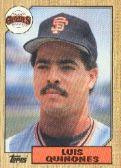 1987 Topps Baseball Cards      362     Luis Quinones