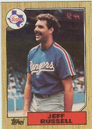 1987 Topps Baseball Cards      444     Jeff Russell