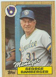 1987 Topps Baseball Cards      468     George Bamberger MG