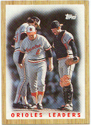 1987 Topps Baseball Cards      506     Orioles Team#{(Mound conference)