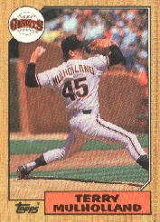 1987 Topps Baseball Cards      536     Terry Mulholland RC