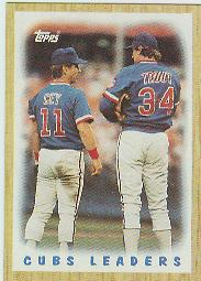 1987 Topps Baseball Cards      581     Cubs Team#{(Ron Cey and#{Steve Trout)