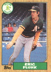 1987 Topps Baseball Cards      587     Eric Plunk